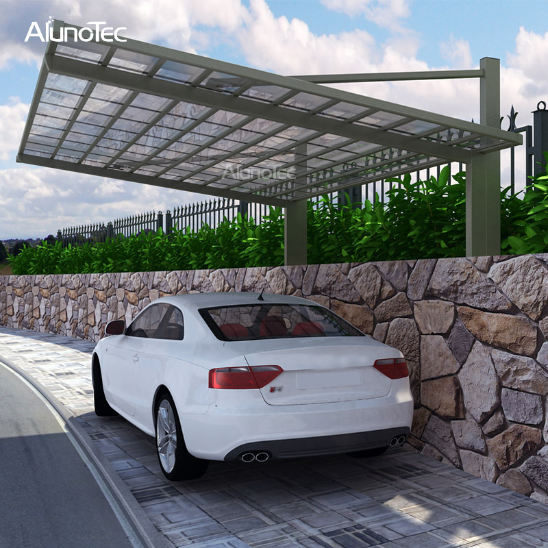 Unique Design Aluminium Cantilever Carport Patio Garden Carport for Villa