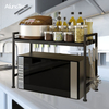 Adjusted 2 Tiers Stainless Steel Microwave Oven Storage Stand Kitchen Rack