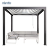 DIY Easy Installation Gazebo Outdoor Waterproof Aluminum Pergola Kits 4x3 With Manual Handle