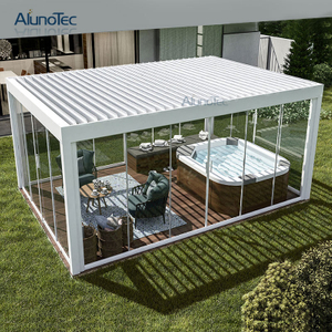Metal Outdoor Tent Aluminum Pergola Gazebo With Zipper Screens