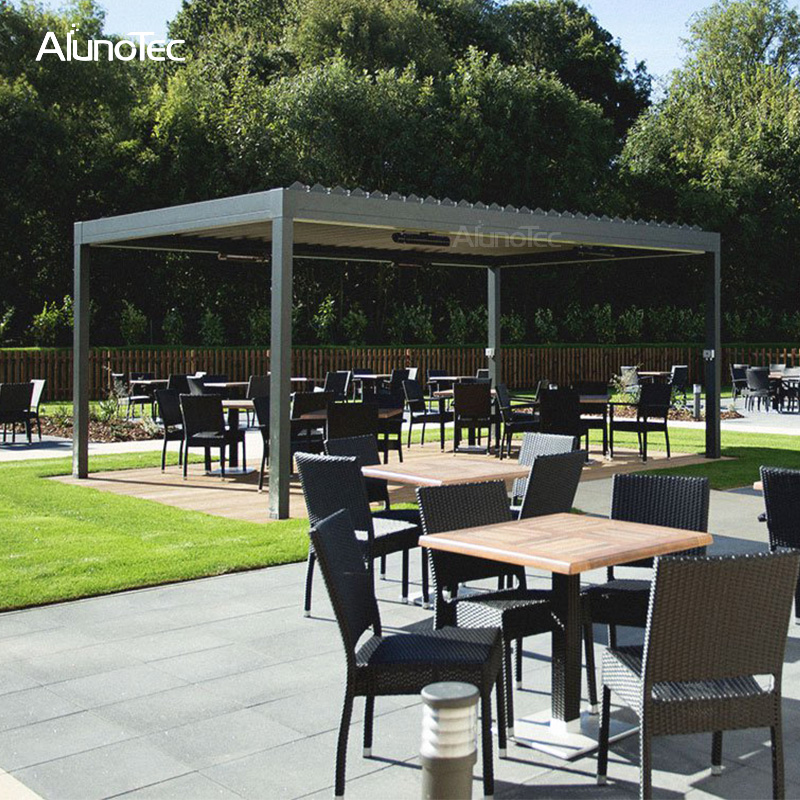 Aluminum Bioclimatic Pergola With Adjustable Roof Louvers