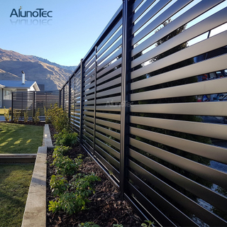Aluminium Balcony Security Vertical Louver Fence Panels Profile Slat Fence