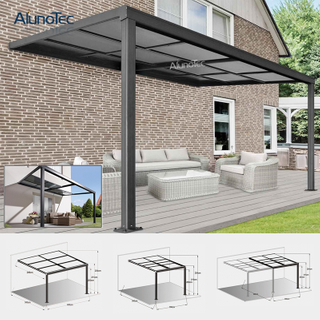 Garden Waterproof Patio Awning Terrace Cover Retractable Roof