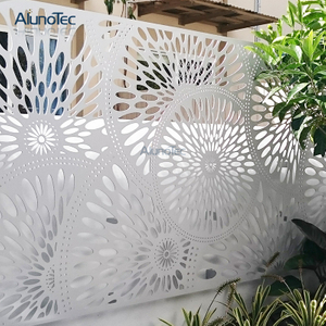 Decorative Aluminum Panel Outdoor Fence For Garden