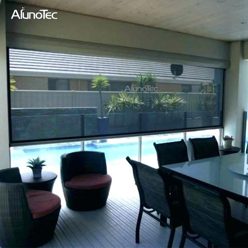 Aluminum Sunscreen Automatic roller blind Rolling shutter Curtain