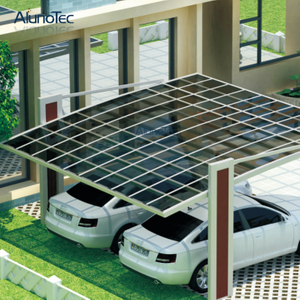 Residential Durable Polycarbonate Roof Aluminum Carport