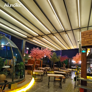 Outdoor Waterproof Motorized Opening Closing Awning Systems