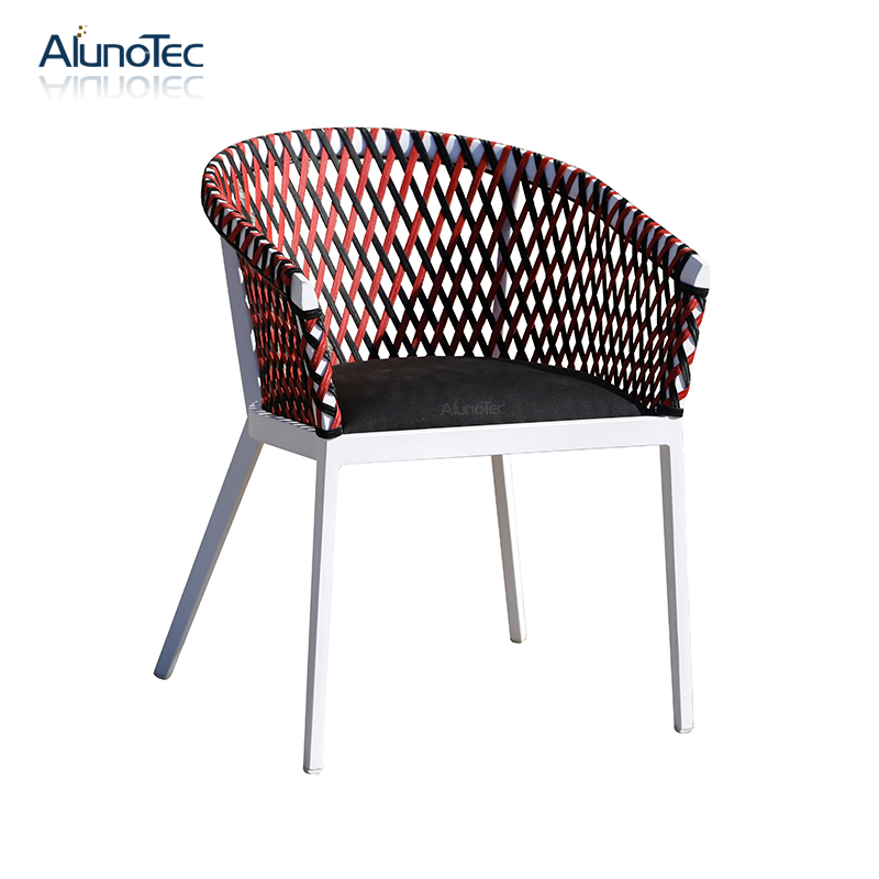 Aluminum Nordic Design Patio Garden Dining Chair Set Rattan Outdoor Furniture