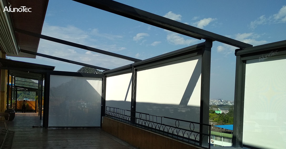 Alunotec's PVC Retractable Roof