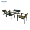 4-Pieces Outdoor Patio Furniture Single Sofa&Double Sofa Sets with Coffee Table