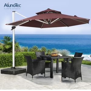 Sunshade Garden Furniture Patio Parasols Aluminum Roman Outdoor Umbrellas