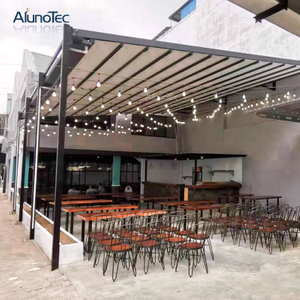 Aluminium Decorative Folding Gazebo With Retractable Roof For Swimming Pool