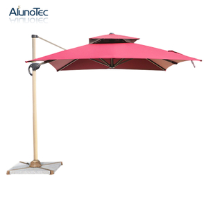 Roman Outdoor Canopy Patio Sunshade Umbrella with Marble Base