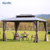 China Wholesale Waterproof Garden Aluminum Outdoor Gazebo With PC Roof