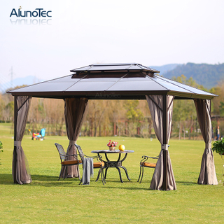 4x3m Height Quality Aluminum Frame Waterproof Garden Polycarbonate Gazebo