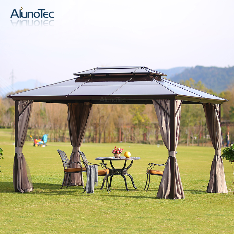 Polycarbonate Outdoor Patio Garden Aluminum Gazebo Tent