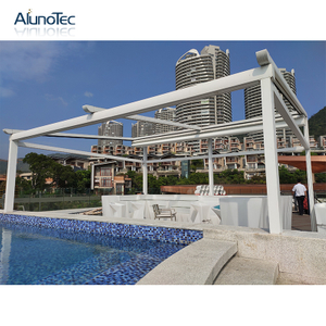 Hot Sale Waterproof Electric Gazebo Retractable Pergola Awning For Garden