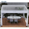 Wholesale Manual Operable Opening Roof Garden Aluminum Louver Pergola With Handle Crank
