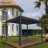 Manual Crank Operable Waterproof Outdoor Gazebo Garden Opening Louvered Roof Pergola Kits