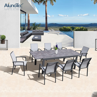 Outdoor Patio Garden Furniture Extension Tables and Dining Sets