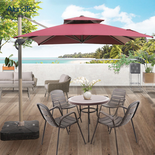 3x3 Patio Sun Shade Aluminum Folding Roman Cantilever Umbrella For Sale