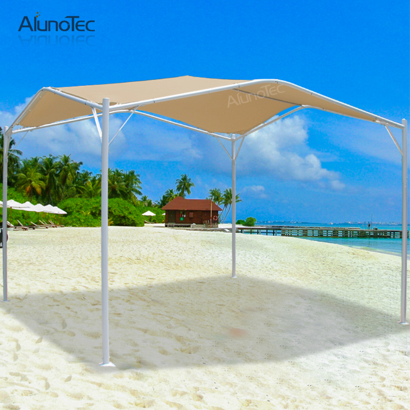 Aluminum Frame Gazebo Exterior Roof Sun Shade Canopy Awning with Fabric