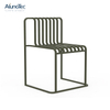 Modern Comfortable Relax Outdoor Furniture Black Dining Rest Chair