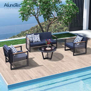 Elegant Design Sofa Set Leisure Aluminum Outdoor Garden Furniture Sectional Sofa