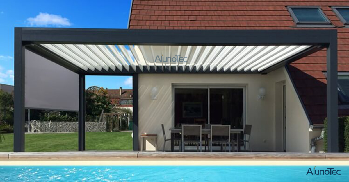 Motorized Opening Roof Pergola