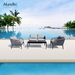 Garden Patio Furniture Sets Single Sofa and Double Sofa with Table