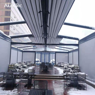 New Design Aluminum Retractable Pergola Awning Roof For Swimming Pool