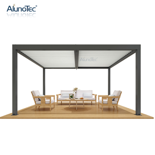 Waterproof Outdoor Louver Roof Aluminium Gazebo Pergola With Handle