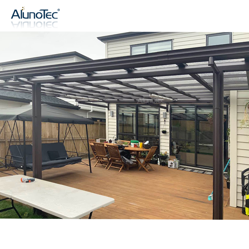 Customized Garden Metal Polycarbonate Patio Canopy Awning for Restaurant