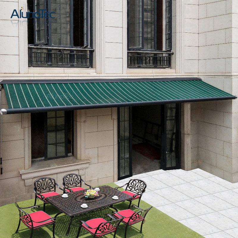 Customized Electric Balcony Patio Garden Aluminum Full Cassette Folding Arm Retractable Outdoor Awning