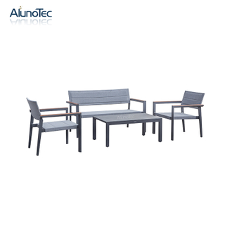 Living Room Sofa Set/Coffee Table Set/Outdoor Dining Set In Aluminum Frame