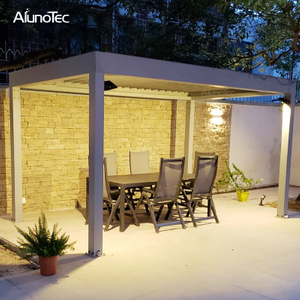 Outdoor Metal Wind Resistant Gazebo Aluminium Pergolas For Patio