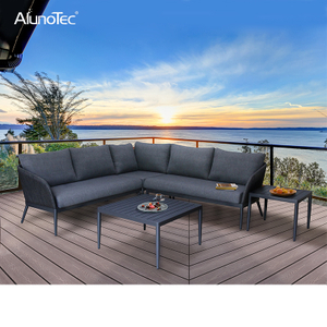 Outdoor 5-Seaters Patio Garden Furniture Upholstery Sectional Sofa Sets