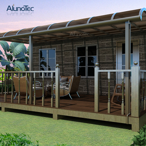 Powder Coated Frame Polycarbonate Canopy For Outdoor Patio