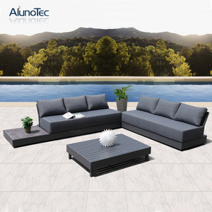 Modern Outdoor Garden Patio Furniture Upholstered Sectional Sofa Sets