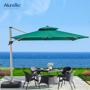 Easy Control Sun Shade Aluminum Folding Parasols Roman Beach Outdoor Umbrella