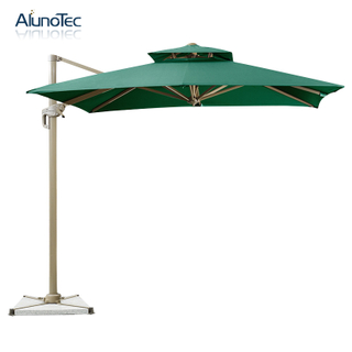 Roman Design Aluminum Folding Cantilever Outdoor Umbrella for Patio Sunshades