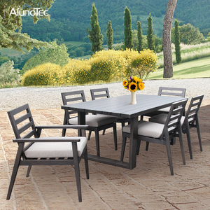 Aluminium Patio Dining Set Outdoor Garden Furniture Table Set
